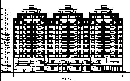 广东现代风格高层框架结构住宅建筑施工图