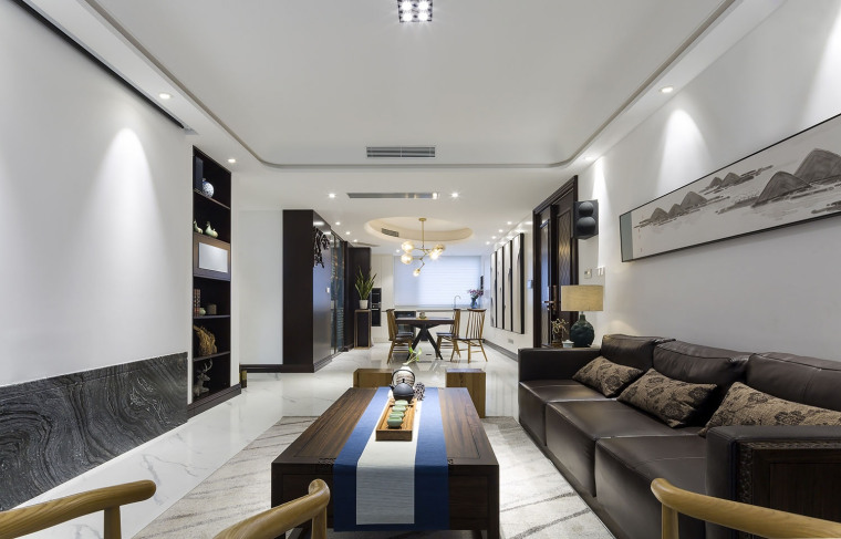 新中式风格的住宅-家装住宅装修设计案例-筑龙室内