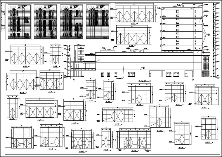3套商住综合楼建筑设计施工图CAD-黄金海岸商住综合楼门窗2