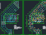 地下1层大底盘地下室地上5幢框剪结构住宅楼施工图