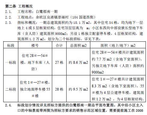 [万科]良渚文化村白鹭郡南施工总招标文件(共10页)