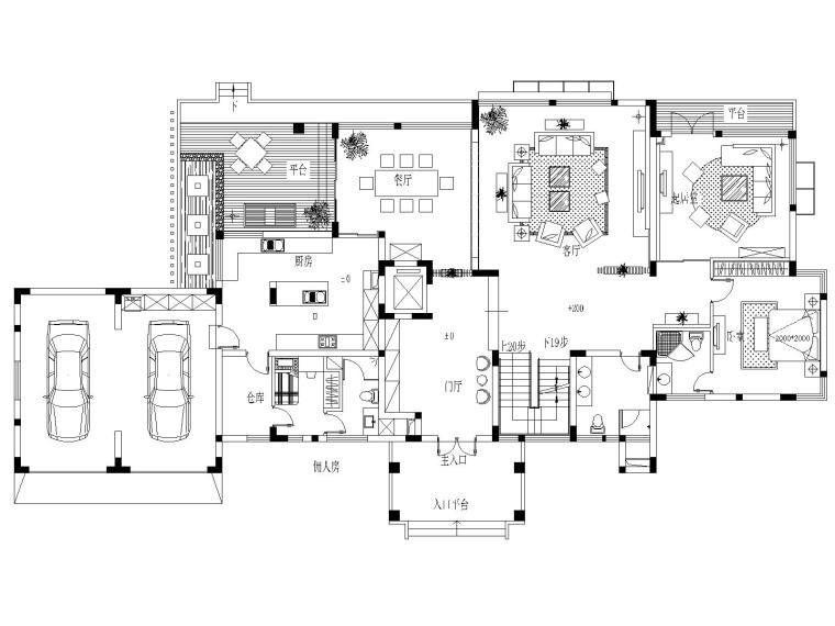 欧式古典家装效果图资料下载-[上海]某豪华别墅家装设计施工图及效果图