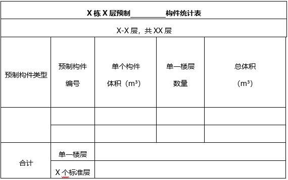 北京市装配式建筑项目预制率计算书(word,6页)