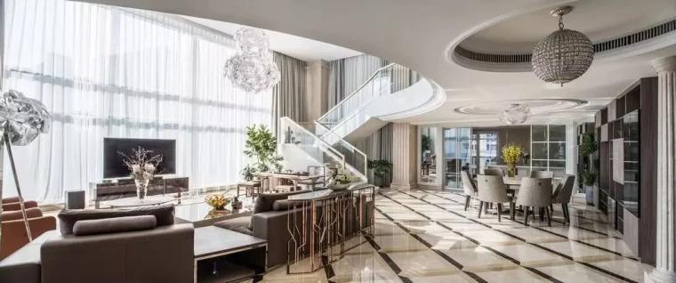 欧式二层豪宅资料下载-500㎡现代挑高豪宅,这才叫品质生活!