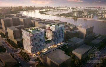 [合集]3套高层现代风格甲级办公楼建筑设计方案文本