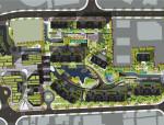 [上海]现代轻奢商办住宅一体化街区景观概念设计(多方案)