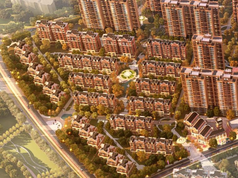 [江苏]南昌奥克斯盛世华庭居住区总体规划设计