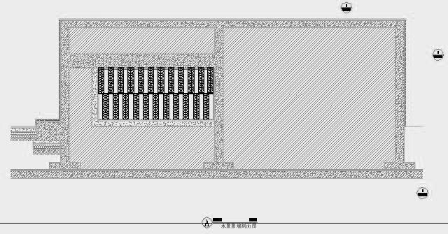 四川成都金色海蓉景观设计施工图-设计详图水景景墙剖面图