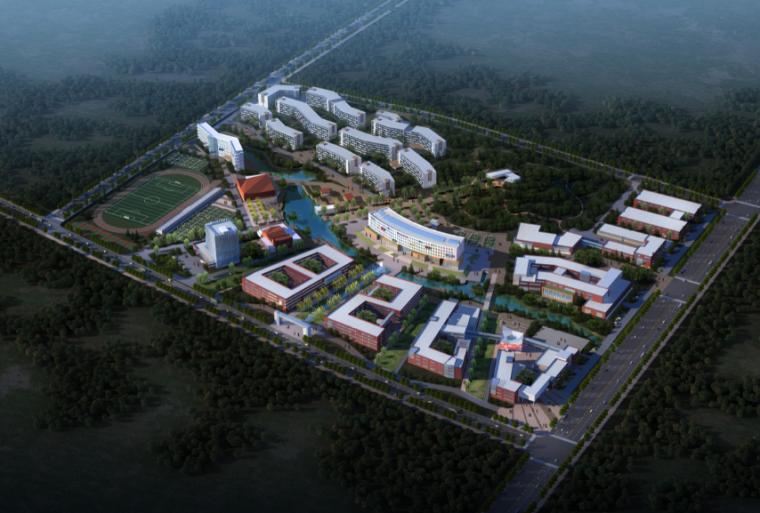 [山东]威海市职业中等专业学校建筑设计方案文本3