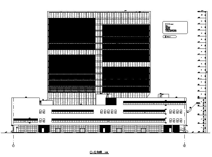 [天津]高层框架剪力墙结构服务办公中心(17年最新全专业图纸)