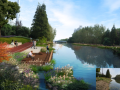 [江苏]生态绿色森林廊道打造绿色印记长卷滨水休闲景观设计方案