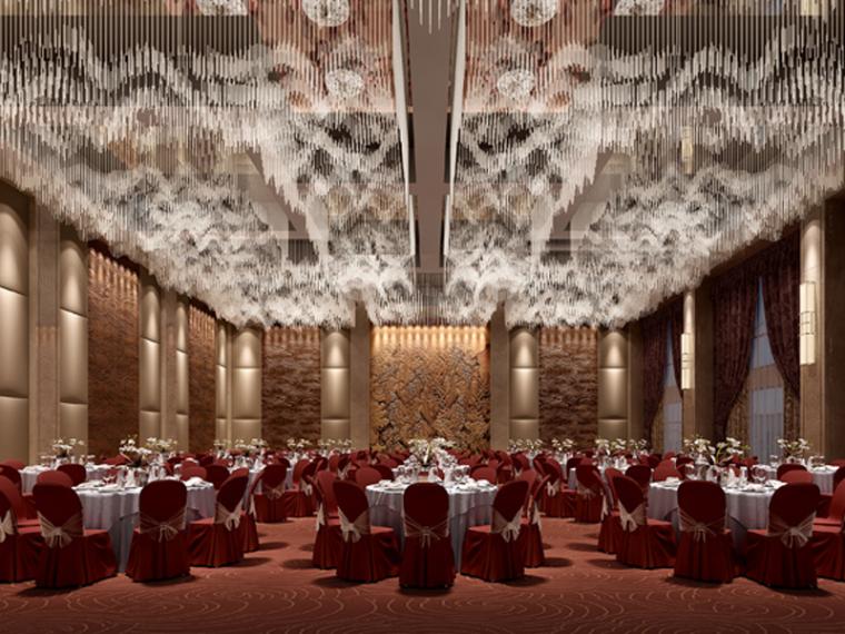 华丽宴会厅3D模型下载_1