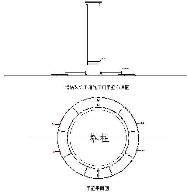 [甘肃]公路悬索桥桥塔装饰施工方案(环形升降吊篮平台)