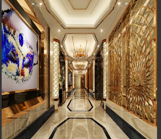 [电梯过道]27套现代、后现代、中式风格|电梯过道3D模型