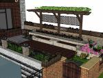 亭•廊•花架庭院景观设计(su模型)