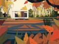 童话小镇般的公园插画是怎么画的呢