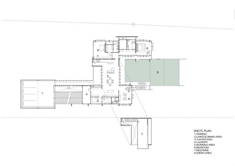 泰国现代田园式住宅平面图 (34)