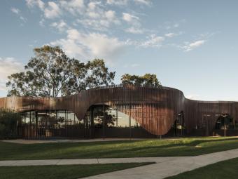 动态外观的图书馆与学习中心