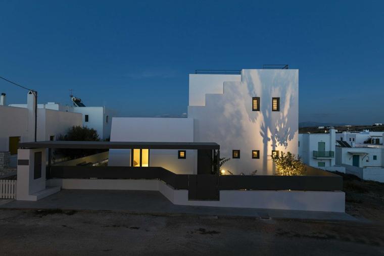 希腊音乐家家庭住宅外部夜景实景图 (8)