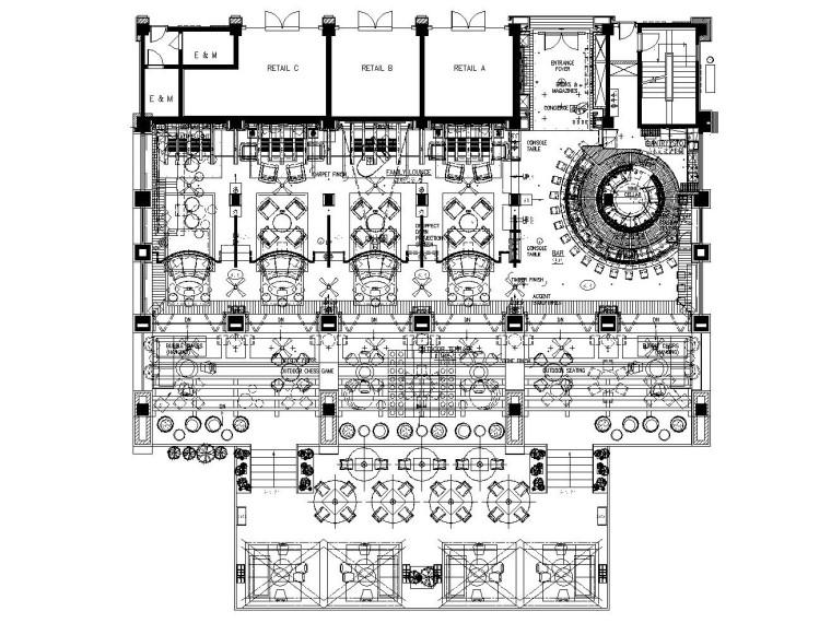 国外休闲酒吧CAD施工方案(境外完整版)