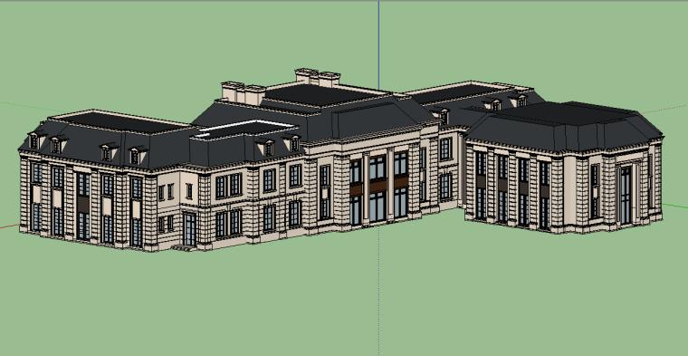 新古典会所建筑模型设计-场景三