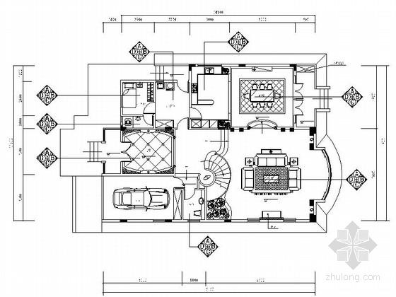 [苏州]风景秀丽生态园区A2型欧式风情三层别墅装修施工图