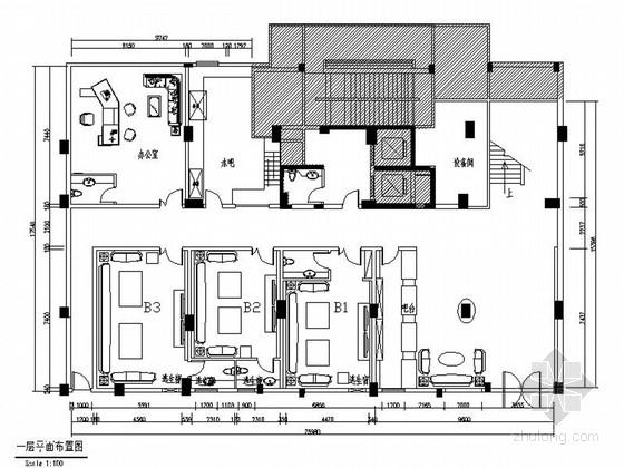 [原创]超豪华欧式风格KTV室内装修施工图(含效果)
