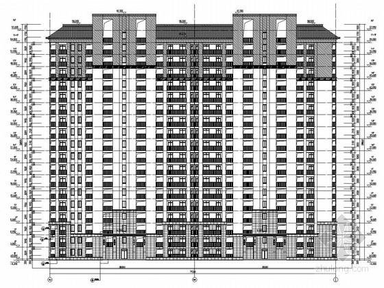 [四川]18层剪力墙高层住宅结构图(含建筑、详细幕墙施工图)