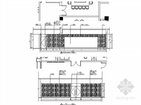 [南京]综合性通信软件研发中心现代办公室装修施工图(含水电图)立面图