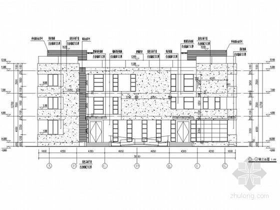[南京]1300平三层框架结构科技研发楼结构施工图(含建筑图)