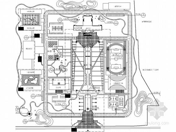 [河北]行政办公楼区景观设计全套施工图