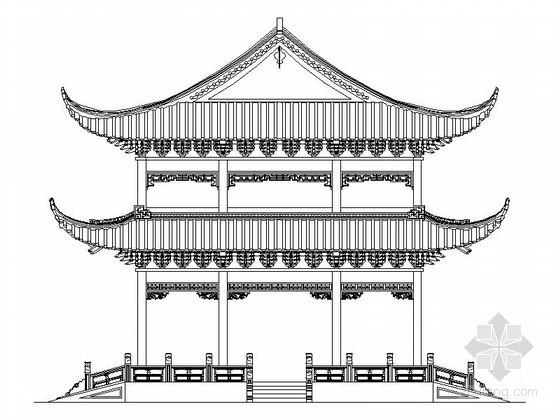 [古建]重檐歇山顶亭子施工图