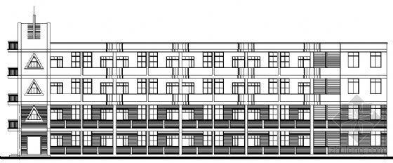 某中心小学四层教学楼建筑扩初图