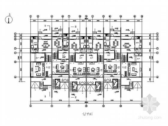 [上海]高档板式住宅楼建筑设计方案图-高档板式住宅楼建筑首层平面图