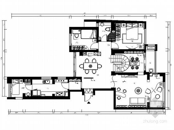 [深圳]公园商务综合体现代复式CAD施工图(含效果)