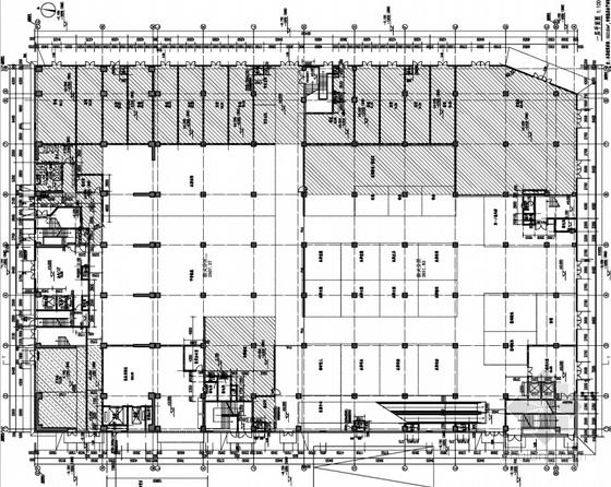 [上海]花园式大型现代风格商业广场设计方案文本-花园式大型现代风格商业广场平面图