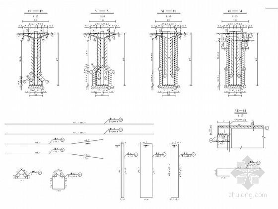 40m跨径预应力混凝土T梁设计套图(20张)