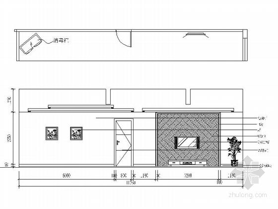 [绍兴]民营企业集团锦纶公司现代办公室装修施工图大包厢立面图