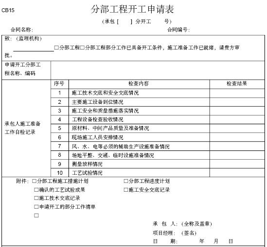 施工监理常用表格大全(共104个)