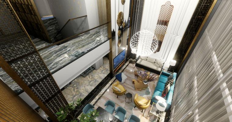 豪华loft室内设计客餐厅模型设计(2018年)-X 0