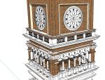 欧式风格建筑SU精模型