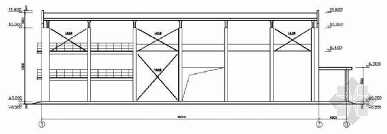 某催化剂空压站建筑结构图纸(带设备基础)