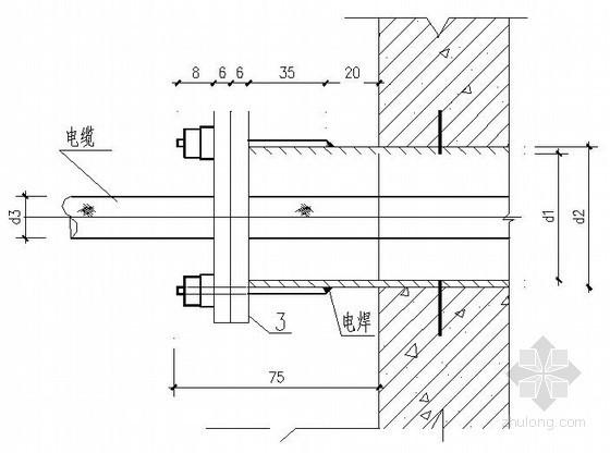 电气工程明管穿墙与电缆穿管大样图
