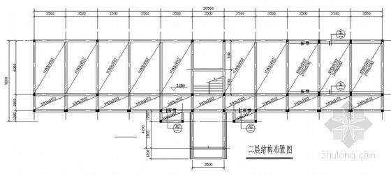 二层砖混结构小办公楼结构施工图(含建筑施工图 坡屋顶)