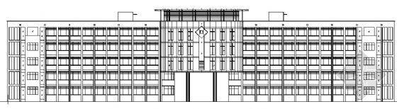 某临街五层小学综合楼建筑施工图