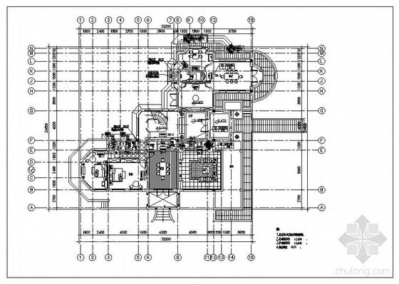 VRV空调设计图资料下载-度假村VRV空调设计图