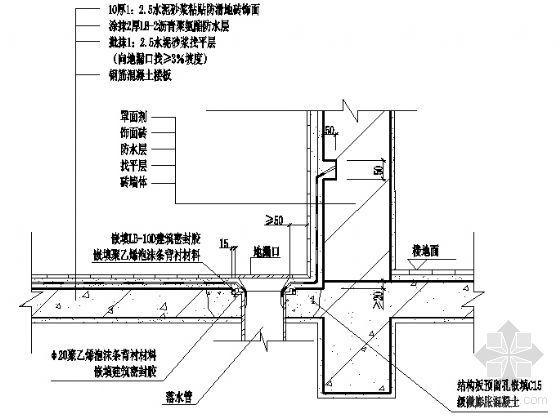 阳台地漏口构造