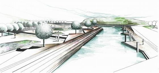 [武汉]爱国主义主题旅游核心区景观设计方案-旅游核心区透视效果图