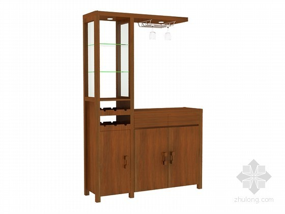 中式酒柜3D模型下载