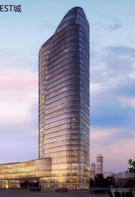 超高层城市综合体规划效果图